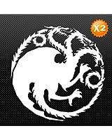 "Kingslayer 8"" White Vinyl Decal - Luna Graphic Designs"