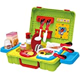 FUDAER Kinderspielküche Essen Spielküche Kinderküche Pädagogisches Spielzeug Küchenspielzeug Geburtstagsgeschenk für Kinder