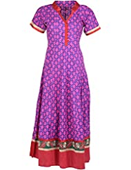 Elegant Cotton Women Kurta (34643 Oye, Purple, Free Size)