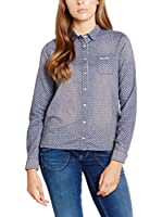 Pepe Jeans London Camisa Mujer Tricia (Azul Oscuro)