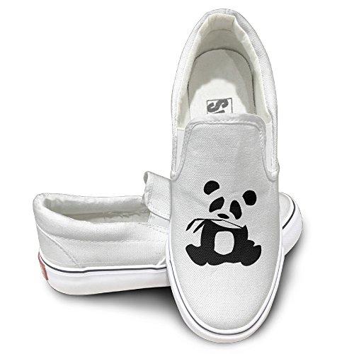 [Jirushi Unisex Classic Panda Is My Sprit Animal Slip-On Shoe White Size41] (Devil May Cry 3 Costumes)