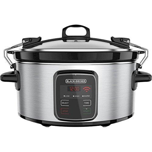 BLACK+DECKER Best Programmable Crock Pot 6-Quart Slow Cooker with WiFi-Enabled (7qt Crock Pot Ceramic Replacement compare prices)