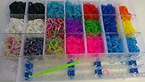 DIY 4200 Colourful Loom Rubber Bands Bracelet Making Kit Twistz Band Hook S Clip