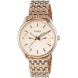 Fossil ES3713 - Reloj para mujeres, correa de acero inoxidable chapado color oro rosa
