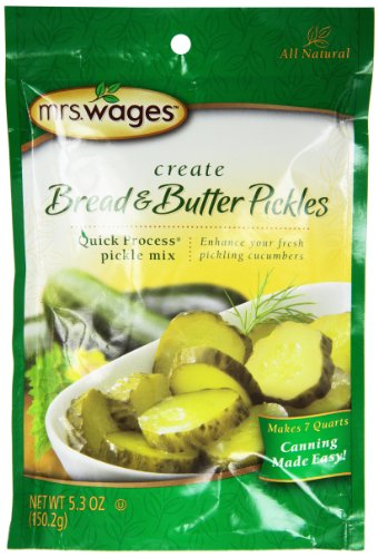 Mrs. Wages Bread n Butter Pickle Mix, 5.30-Ounce Packets, (Pack of 6) (Mrs Wages Dill Pickle Mix compare prices)