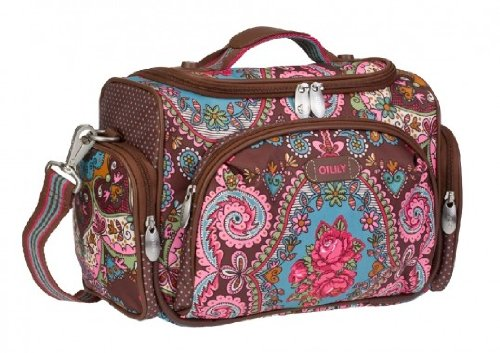 Oilily Beauty Case Tasche Kosmetiktasche Travel Braun Brown