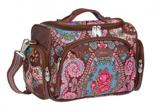Oilily Beauty Case Tasche Kosmetiktasche Travel Braun Brown