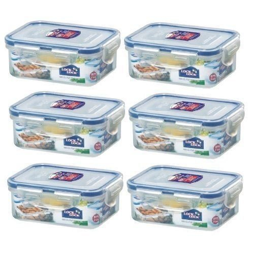 6-x-lock-lock-rect-350ml-food-container-hpl806