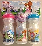 Nuby No Spill Sport Sipper 3-pack Princess Set