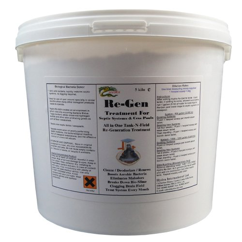 With the Help of Hydra Re-Gen 5Kg Clean Liquid Output to the Drainage/Septic Tank Soakaway