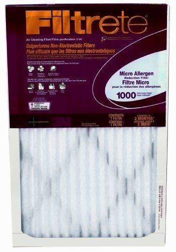 Filtrete Micro Allergen Defense Filter, MPR 1000, 16 x 30 x 1-Inches, 6-Pack Size: 16x30x1 UnitCount: 6, Model: AD27-6PK-2E, Hardware Store