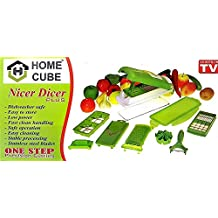 HOME CUBE® High Quality 10 In 1 Fruits And Vegetable Cutter - Nicer Slicer Dicer, Chopper, Grater, Peeler - All...