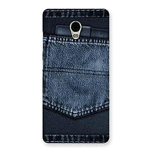 Gorgeous Navy Jeans Pocket Back Case Cover for Lenovo Vibe P1