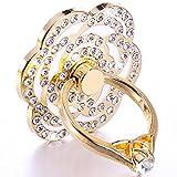 Universal Phone Ring Bracket holder ,UCLL Love Heart Diamond Shape Finger Grip Stand Holder Ring Car Mount Phone Ring Grip Smartphone Ring stent Tablet Rose Gold (White)