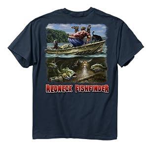 Buck Wear Inc. Red-Fishfinder Short Sleeve Tee