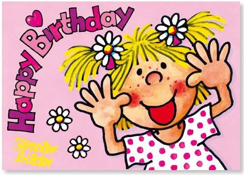 Fensterbild * Happy Birthday Freche Lotte * als Einladungskarte von LUTZ MAUDER // Fensterbilder Aufkleber Sticker Geschenk Bild Karte Mädchen Pferd Kindergeburtstag Geburtstag Postkarte Einladungskarten Einladung Herzlichen Glückwunsch Pink Rosa Prinzessin