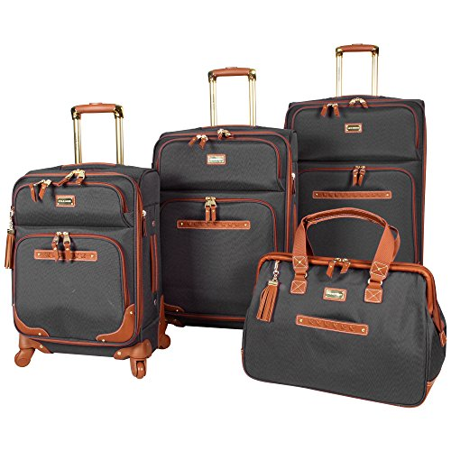 steve-madden-4-piece-luggage-with-spinner-wheels-black
