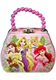 Disney Princess Purse Shaped Tin Box With Beaded Handle