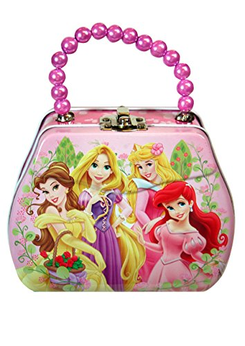 Disney Princess Purse Shaped Tin Box With Beaded Handle - 1
