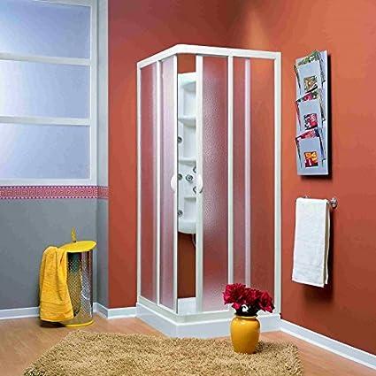 Duschkabine | Eckeinstieg | VELA | Acryl-Glas / Kunststoff | Fb. weiss Größe 75 x 90 cm