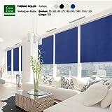 casa pura® Verdunkelungsrollo mit drei flexiblen Befestigungsarten in neun Größen | Marineblau | 110x150cm