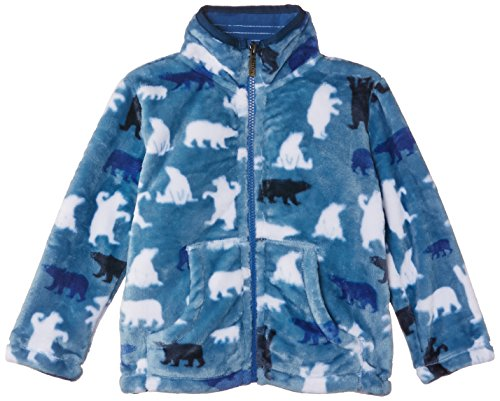 Hatley Little Boys' Fuzzy Fleece Jacket Polar Bear Boy, Blue, 2 back-1056381
