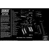 FIXMat featuring Glock diagram (GEN 4), 11 X 17 Handgun Cleaning Mat featuring Glock diagram, Black