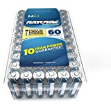 Rayovac Alkaline AA Batteries, 815-60PPF, 60-Pack with Recloseable Lid