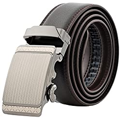 Binlion 100% Real Leather Auto Bulk Belt (110, Coffee)