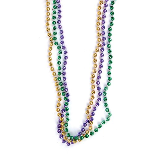 "12 ~ Mardi Gras Beaded Necklaces ~ Approx. 33"" ~ Plastic Beads ~ New ~ Party Favors"