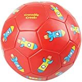 "Crocodile Creek Kids Rockets Boxed Soccer Ball, Red, 3""/7"", 3""/7""/Red"