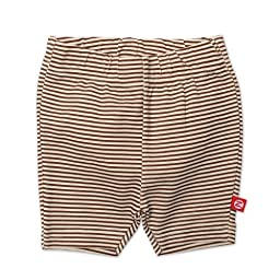 Zutano Baby-girls Infant Candy Stripe Bike Shorts, Chocolate, 6 Months