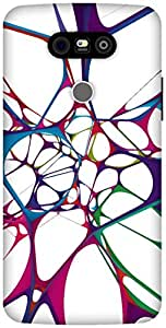 The Racoon Lean color web hard plastic printed back case / cover for LG G5