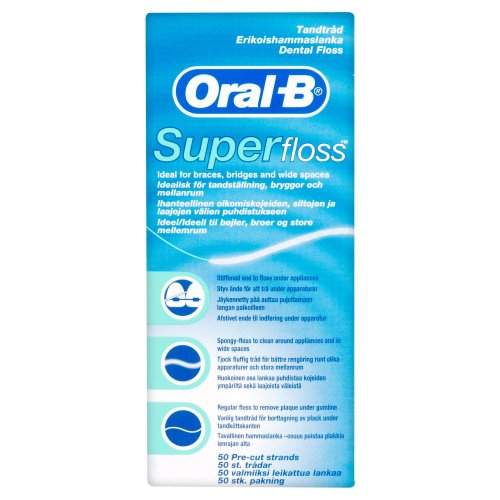 Oral-B Pre-Cut Floss Strands (Pack of 4)