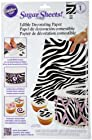 Wilton Sugar Sheet, Zebra Print