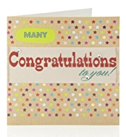 Congratulations Craft Greetings Card