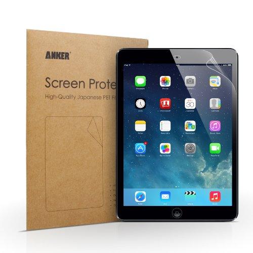 Anker iPad Air/Air2用 2枚セット 液晶保護フィルム 高精細度 光沢仕上げ 日本産の高品質PET素材使用 汚れ・シミ防止加工【18ヶ月保証】