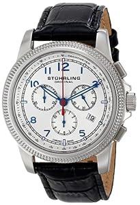 Stuhrling Original Men's 717.01 Octane Targa Courant Analog Display Swiss Quartz Black Watch