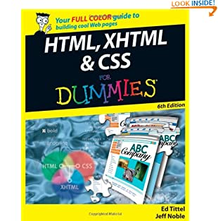 HTML, XHTML and CSS For Dummies (Paperback)