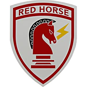 amazoncom  air force civil engineer red horse clear decal automotive