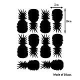 "Yanqiao 10pcs DIY Kitchen Fruit Waterproof Wall Stickers Removable Vinyl Pineapple Wall Decor 1.97*3.35"""