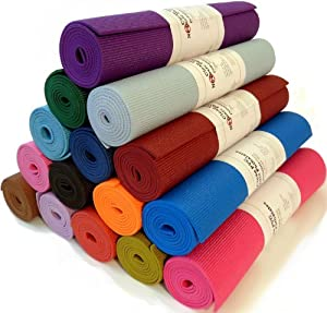 "Yoga Monster Mat 1/4""x72"" Extra Thick 17 Colors SGS Approved Non-Toxic PER No Phthalates or Latex by Bean ProductsTM - Glacier Blue"