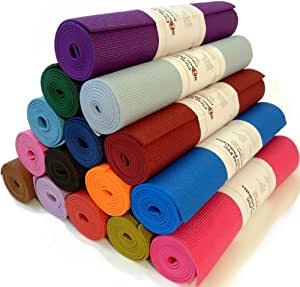 "Yoga Monster Mat 1/4""x72"" Extra Thick 17 Colors SGS Approved Non-Toxic PER No Phthalates or Latex by Bean ProductsTM - Blues"
