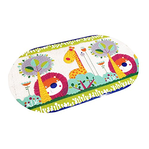 Lovely Hide and Seek PVC Non-Slip Bath Mat with Suction Cups Clear