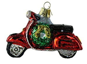 Old World Christmas Motor Scooter Ornament