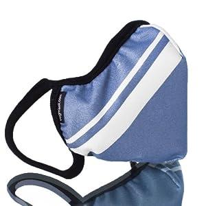 Vogmask Classic Microfiber High-Filtration Dust Mask: Blue Grey Stripe from Vogmask