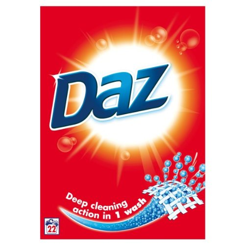 Daz Regular Powder Biological Laundry Detergent 22 Washes (Pack of 4)