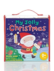 My Jolly Christmas Blocks & Book