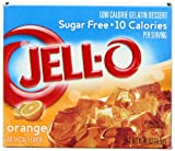 Kraft Jello Sugar Free Orange 8.5 g (Pack of 4)