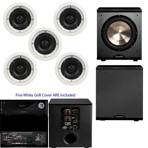 Speakercraft Crs6 Zero 5-Pack Sm86601-5 Bic Acoustech Pl-200-Harman Kardon Avr 1710 - White front-518140